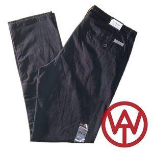 WT02 Men's Stretch Twill Chino Pants, Jet Black